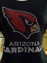 New Arizona Cardinals Bling Rhinestones Fitted Football Shirt - $20.97