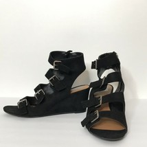 DV by Dolce Vita Strappy Sandal Wedges Buckles Side Zippers 9 Vegan Faux... - £30.64 GBP
