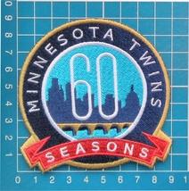 2020 MLB Baseball Minnesota Twins 60th anniversary logo patch sew on emb... - $14.99