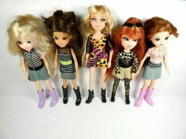 Bratz Dolls Lot of 5 Totally Polished Cloe Catz Meygan Moxie Girlz Ida A... - $45.00