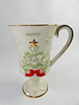 """Lenox """"Very Merry"""" Personalized CHRISTMAS Tree Red Ribbon Gold Star KRIS... - $22.72"""