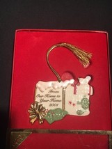 """Lenox 2001 Christmas Ornament """"From Our Home to Your Home"""" Holiday Ornament - $9.46"""