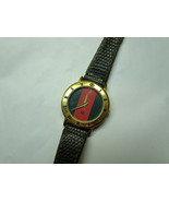 VINTAGE GUCCI 3000 L Ladies Shelly/Sherry Face swiss v8 6 jewel watch runs - $188.67