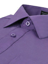 Omega Italy Men's Purple Dress Shirt Long Sleeve Slim Fit w/ Defect - 4XL image 3