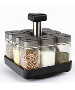 Kitchen Jars For Spices Rotating Glass Cruet Seasoning Jar Set Kitchen T... - $54.99