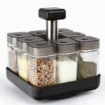 Kitchen Jars For Spices Rotating Glass Cruet Seasoning Jar Set Kitchen T... - £42.62 GBP