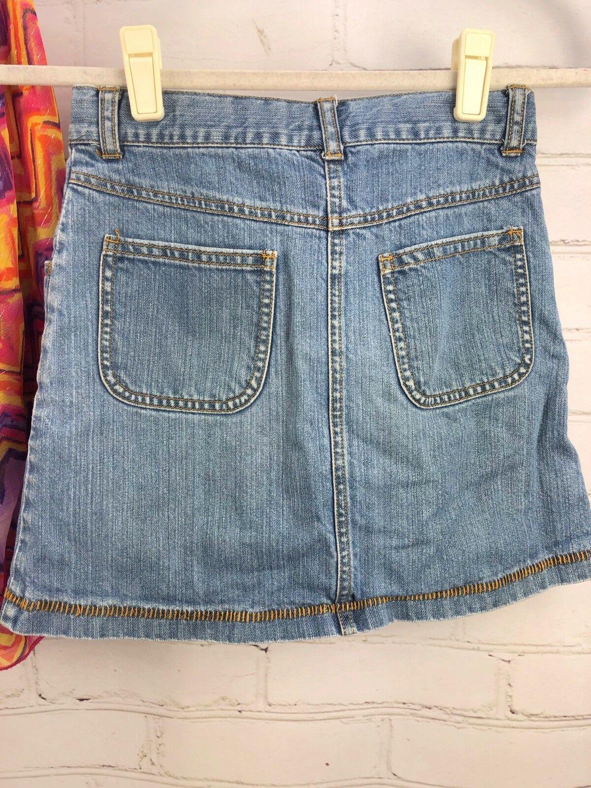 Justice Outfit Set - Boho Flowing Loose Poncho Top + Jean Skirt Skort Sz 10 image 4