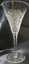 "Waterford Cut Crystal Kilbarry Claret Wine Stem 7.75"" Glass - $102.85"