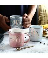 Ceramic Gold Stamping Cup Mark Coffee Tea Mr Mrs Mug Gift Family Wedding... - $30.17