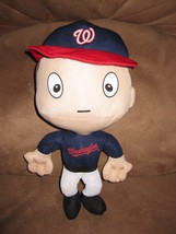 "WASHINGTON NATIONALS BIG HEAD PLUSH PLAYER New 2015 MLB Licensed 13"" RAL... - $11.99"