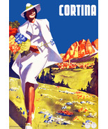 """20x30""""Poster on Canvas.Home Room Interior design.Travel Italy.Cortina.6546 - $60.78"""