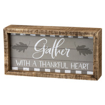 PBK Fall Decor - Gather With A Thankful Heart Wood Box Sign - $14.95