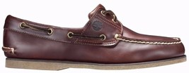 Men's Timberland Classic 2-EYE BOAT SHOES, TB025077 214 Sizes 8.5-14 Root Beer - £72.47 GBP