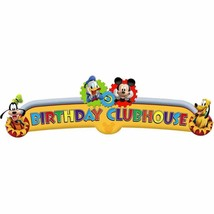 Mickey Mouse Clubhouse Birthday Party Decoration Banner Gears Donald Dis... - $6.85