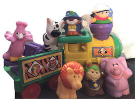 Little People Circus Train Fisher Price With Trailer Animals & Clown No Sound - $39.60