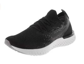 Nike Kids Epic React Flyknit (GS) 943311-001 Black/Black/Dark Grey Runni... - $105.99