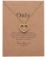 ForeveRing Z Charm Necklace Message Card Only Letter Q Necklace Initial ... - $22.86
