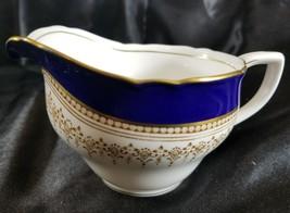 Royal Worcester Regency Blue Creamer - $102.85