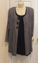 NWT $139 frederick's of hollywood 2 pc.dress & Long Jacket Made in Usa size 9/10 - $28.71