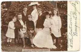 29. President Roosevelt and Family Postcard by Illust. Post Card Co., N.Y. - $4.50