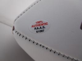 CHARLES WOODSON / AUTOGRAPHED MICHIGAN WOLVERINES LOGO WHITE FOOTBALL / COA image 6