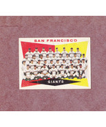1960 Topps # 151 San Francisco Giants Team Card Nice Unmarked - $3.99