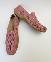Donald J Pliner Shoes Flats Salmon Loafers Sport Perforated Italy Womens... - $69.26