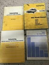 1983 TOYOTA COROLLA Workshop Service Repair Shop Manual Set OEM W EWD + - $118.75