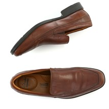 Clarks Collection Brown Leather Loafers Shoes Soft Cushion Ortholite Men... - $39.48