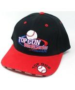 Top Gun World Series Concord NC Baseball Cap Hat Black Red Adjustable New - £11.12 GBP