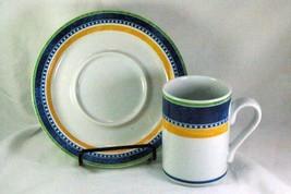 Dansk Bistro Kobenhavn Mug And Saucer Set - $10.79