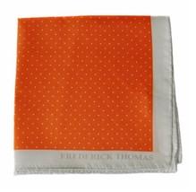 Frederick Thomas arancione e Bianco Spilla a macchie