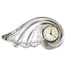 MIKASA QUARTZ Crystal DESK/MANTEL/SHELF Clock MADE IN GERMANY CLEAR NEW - $94.50