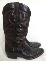 LOBLAN Venezuela Leather Western Cowboy Boots Cordovan Burgundy Euro Siz... - $74.25