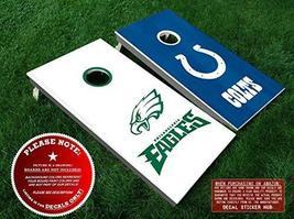Philadelphia Eagles vs Indianapolis Colts Cornhole Decals - 6PC Set Fit ... - $33.99