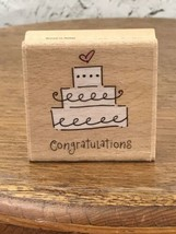 "Katie & Co. Rubber Stamp Congratulations Wedding Cake 2""x2"" - $5.93"
