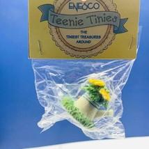 Enesco Teenie Tinies Treasure SEALED miniature figurine ornament flower pot tea - $14.50