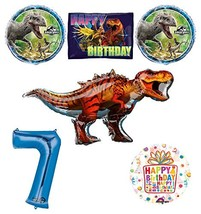 Mayflower Products Jurassic World Dinosaur 7th Birthday Party Supplies a... - $28.97