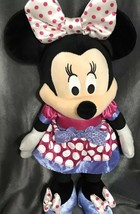Disney Minnie Mouse Valentine's Love Light Up & Sound Softie Plush Stuff... - $30.93
