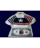 Darice Sweater USA Patriotic 4th July 10 to 12 Inch Bear Doll Clothes Ne... - $12.99