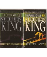 Stephen King The Green Mile 1 & 3 Paperbacks Two Dead Girls Coffey's Hands - $2.95