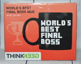 "Thinkgeek "" Worlds Best Final Boss "" Tazza Ceramica 591ml Grande Tazza p... - $29.48"