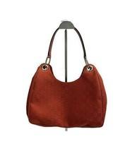 Gucci GG Handbag Purse Shoulder Bag Canvas Leather Trim Logo Web Red - $496.79