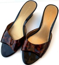 LIZ CLAIBORNE Lantana Womens Patent Leather Peep Toe Slip On Wedge Shoe SZ 8M - $22.76