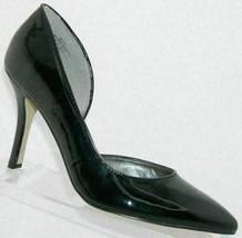 Anne Klein Zyas black man made pointed toe d'orsay slip on heels 9M 5933 - $27.35