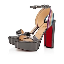 Christian Louboutin Arkendisc Silver 130MM Sandals New and Authentic - $1,249.00