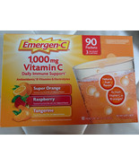 Emergen-C 1000 mg VITAMIN C Daily Immune Support Drink  (90 Packets) che... - $48.97