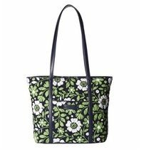Vera Bradley Trimmed Vera Tote in Lucky You with Navy Interior - ₨5,081.22 INR