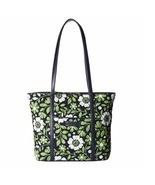 Vera Bradley Trimmed Vera Tote in Lucky You with Navy Interior - £53.34 GBP