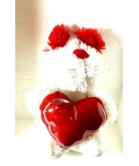 White Doggie RED HEART GIFT CARD HOLDER  MOTHERS DAY - $12.10